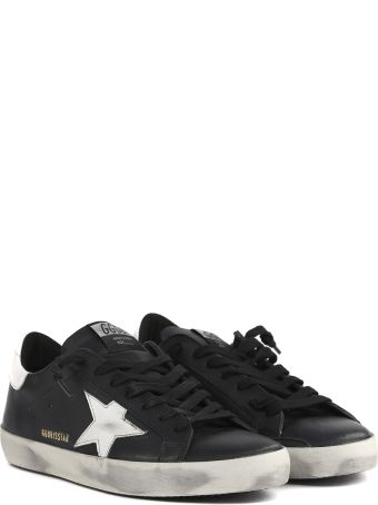 Golden Goose Black Superstar Leather Sneaker