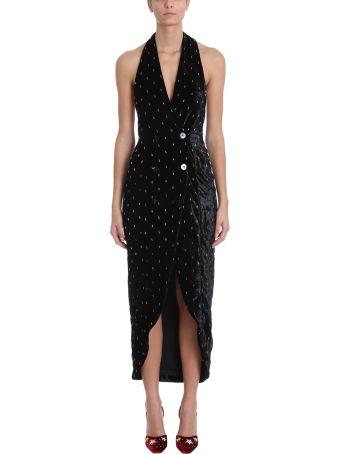 ATTICO Black Velvet Dress
