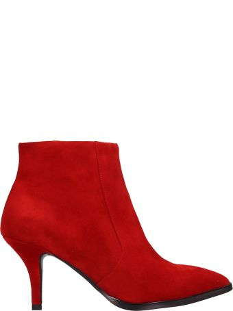 Bibi Lou Red Suede Ankle Boots