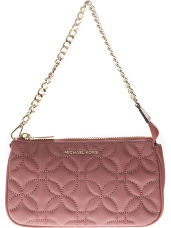 MICHAEL Michael Kors Mini Bag In Quilted Rose Leather