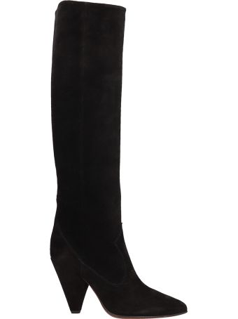 Buttero Black Suede High Boots