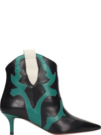 Marc Ellis Green And Black Ankle Boots