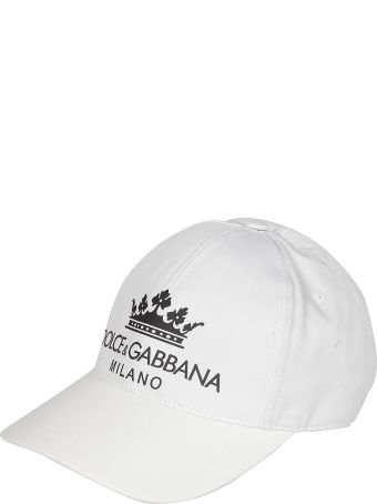 Dolce & Gabbana Crown Logo Print Cap