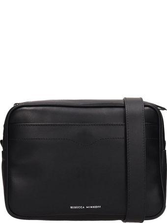Rebecca Minkoff Black Leather Big Camera Bag