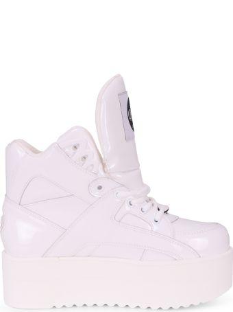 Junya Watanabe X Buffalo White Enamel Sneakers