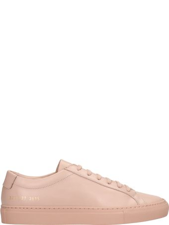 Common Projects Achilles Low Pink Leather Sneakers