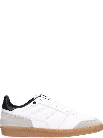 Ami Alexandre Mattiussi White Leather Trainer Basket Sneakers