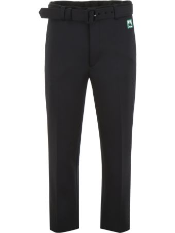 Prada Trousers With Logo Patch