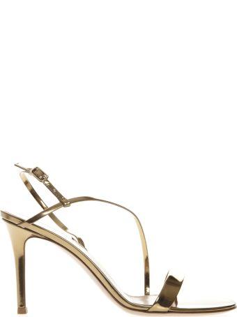 Gianvito Rossi Manhattan Gold Metallic Leather Sandals