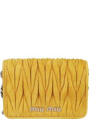 Miu Miu Micro Matelassé Shoulder Bag