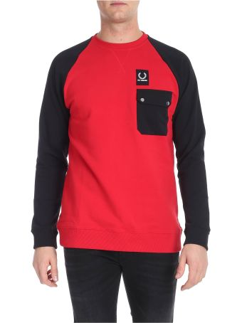 Fred Perry by Raf Simons Black And Red Sweatshirt