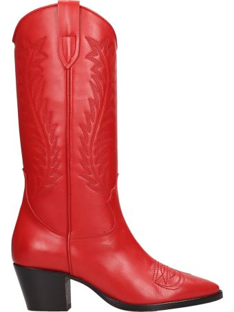 Paris Texas Red Leather Taxano Boots