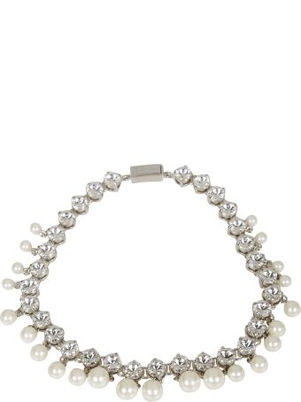 Miu Miu Pearl And Crystal Embellished Necklace