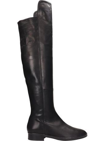 Marc Ellis Black Leather High Boots