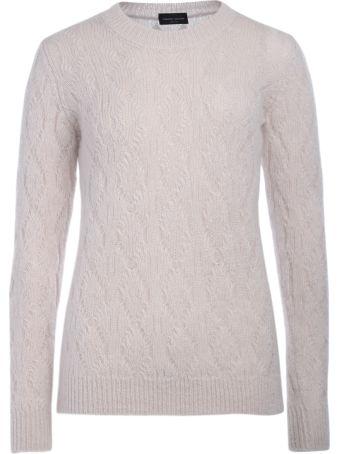 Roberto Collina Pink Braided Knit Wool Jumper