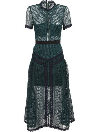 self-portrait Cut-out Flared Dress
