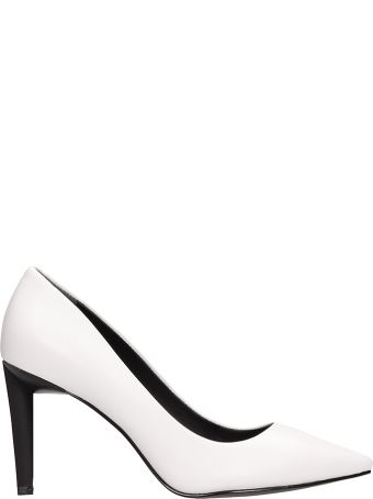 Kendall + Kylie Myra White Calf Leather Pumps