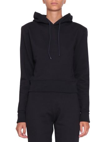 A plan application Navy Cotton Hoodie