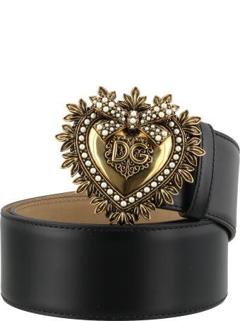 Dolce & Gabbana Logo Heart Buckle Belt