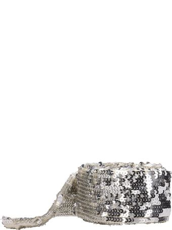 ATTICO Silver Embroidered Sequinned Belt