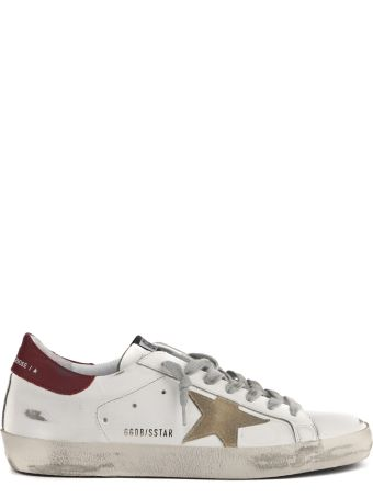 Golden Goose White Superstar Vintage Leather Sneaker