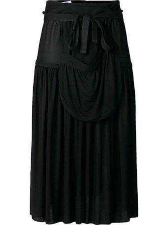 J.W. Anderson Pleated Jersey Midi Skirt