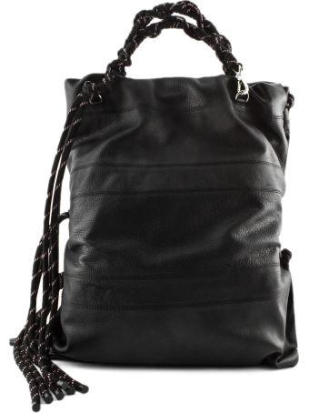 Dries Van Noten Black Leather Shoulder Bag