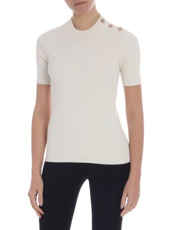 Tory Burch Embellished Knit Top