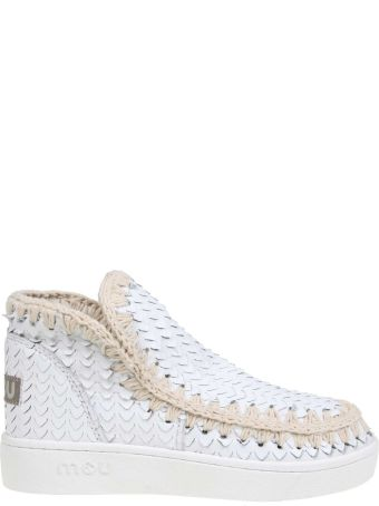 Mou Leather Mou Sneakers In White Leather
