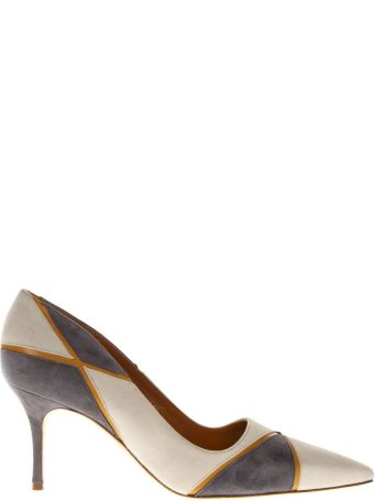 Manolo Blahnik Nella Cream Color Leather Décolleté