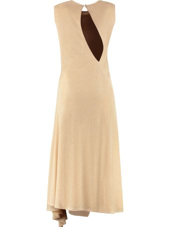 Lanvin Flared Lamè Dress