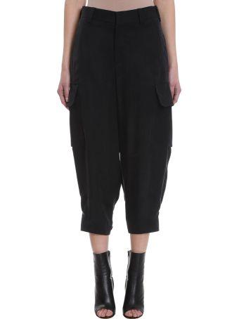 Neil Barrett Black Cotton Cargo Pants