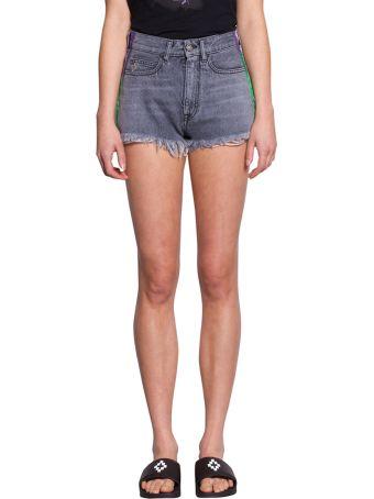 Marcelo Burlon Cotton Denim Shorts
