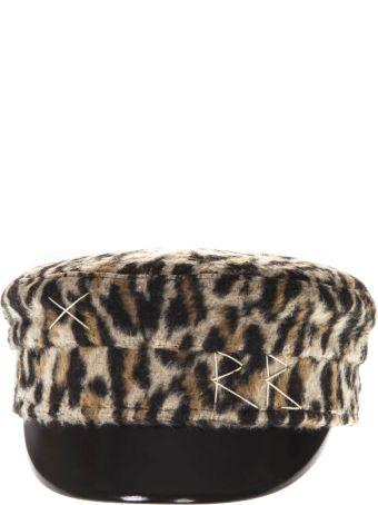 Ruslan Baginskiy Leopard Baker Boy Hat In Wool