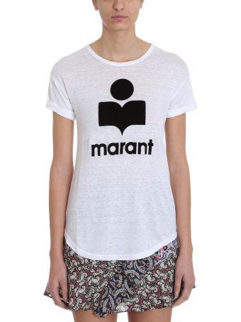 Isabel Marant Étoile Koldi White Linen And Cotton T-shirt