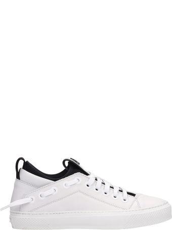 Bruno Bordese Triangular White Leather Sneakers