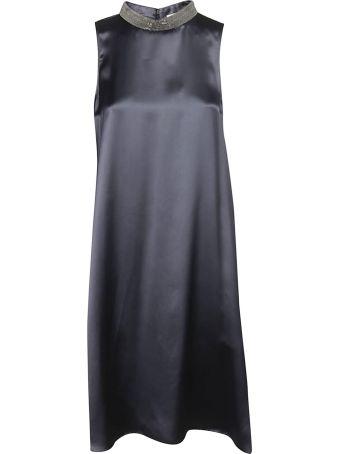 Fabiana Filippi Embellished Neck Midi Dress