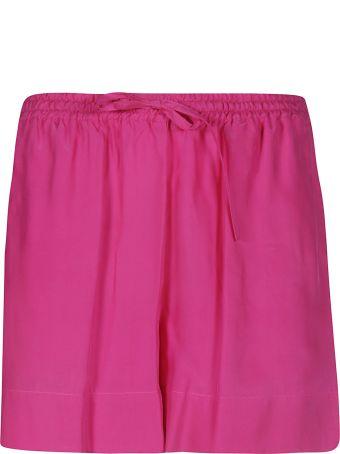 Parosh Ribbed Drawstring Shorts
