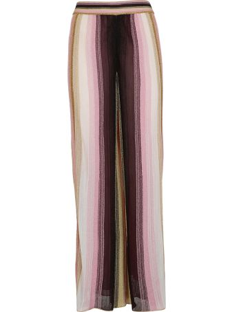 M Missoni Striped Flared Trousers