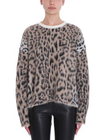 Laneus Leopard Mohair Sweater
