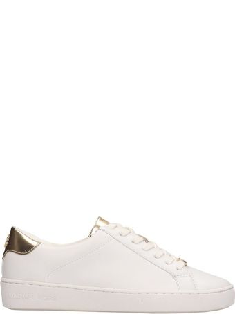 Michael Kors White Leather Irving Sneakers