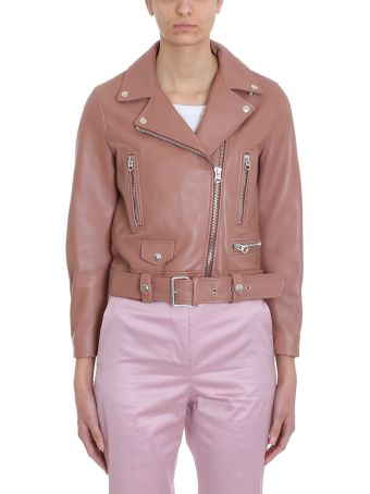 Acne Studios Pink Leather Mock Jackets