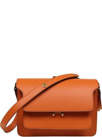 Marni Bag Trunk Bag In Leather Color Orange