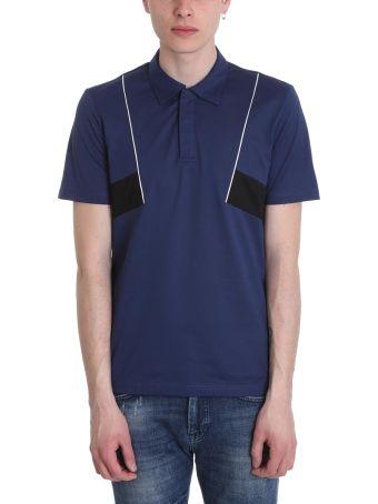 Low Brand Blue Cotton Polo Shirt