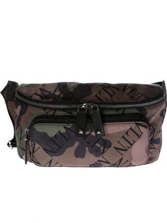 Valentino Printed Camouflage Belt Bag