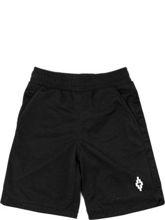 Marcelo Burlon Black Mesh Shorts