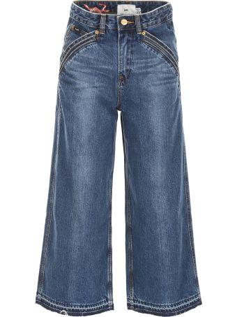 self-portrait Lee Culotte Jeans