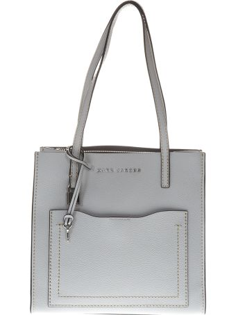 Marc Jacobs Medium The Grind Gray Leather Tote Bag