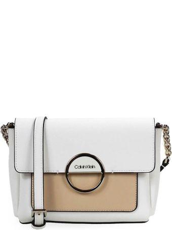 Calvin Klein Mix White Beige Small Crossbody Bag