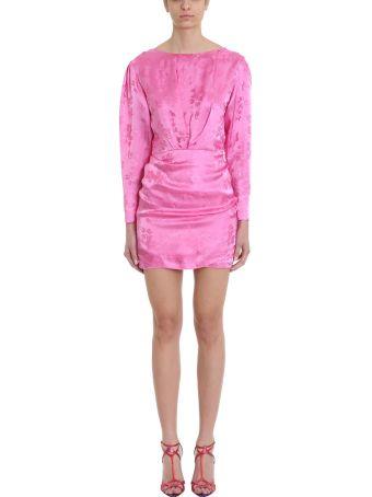 ATTICO Pink Floral Jacquard Mini Dress